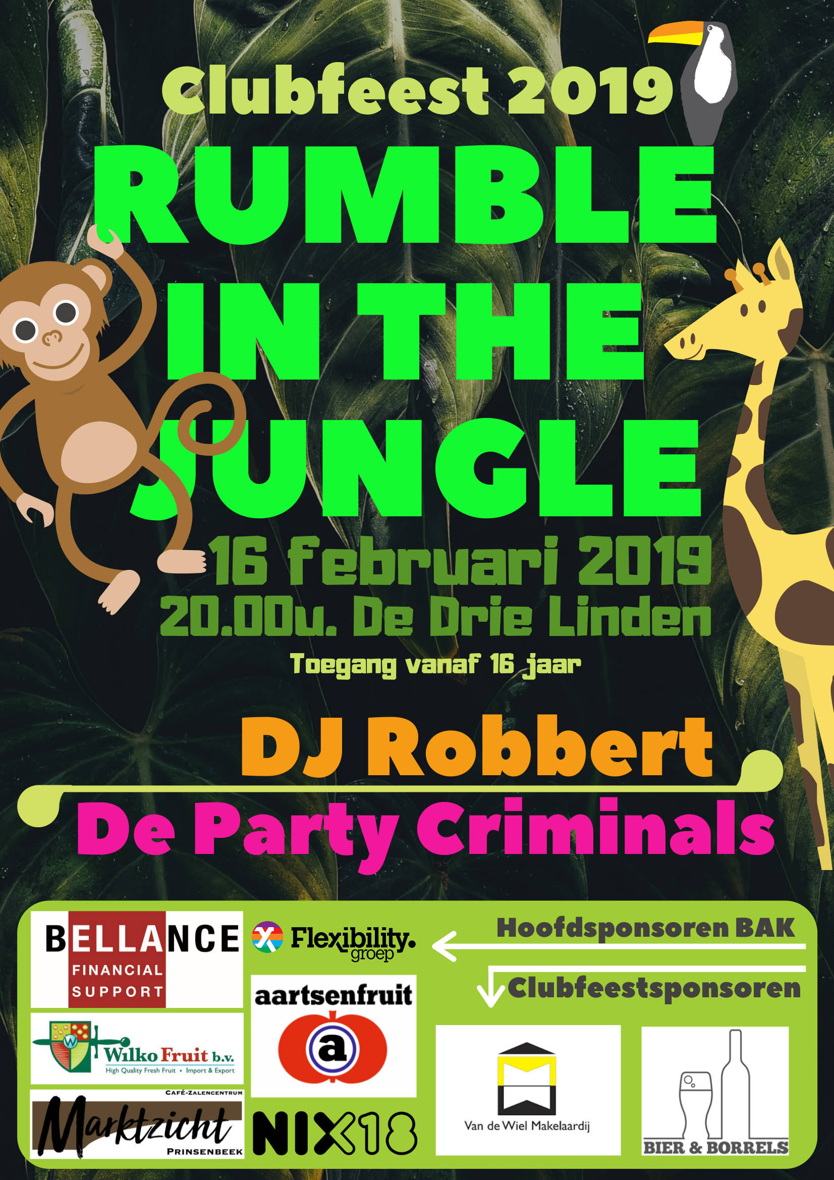 Poster Clubfeest 2019